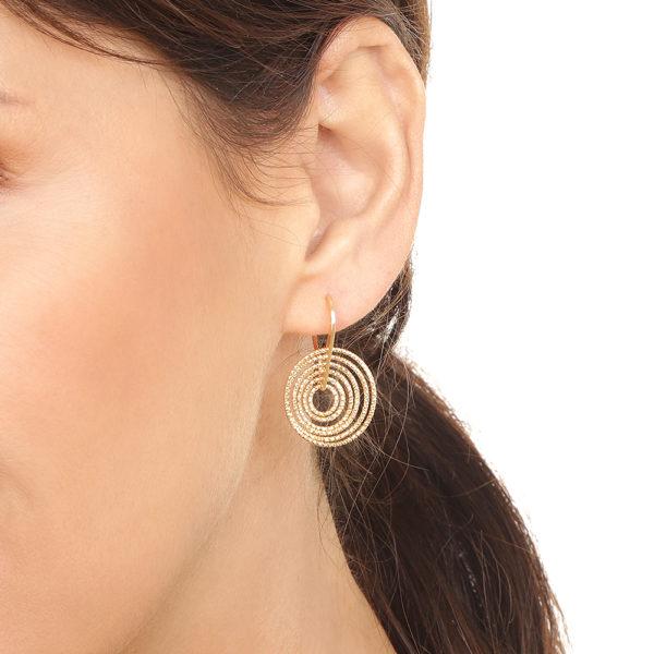 Boucles d'oreilles 3D tourmente rhodié 5