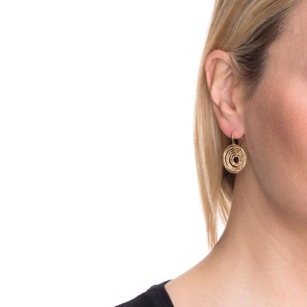 Boucles d'oreilles 3D tourmente rhodié 6