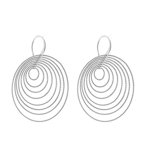3D voluptuous rhodium earrings 4
