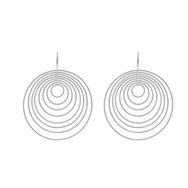 3D voluptuous rhodium earrings 3