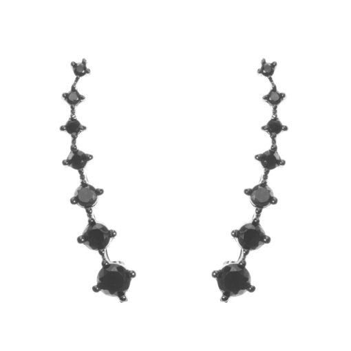Boucles d'oreilles angels noir 3