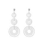 Boucles d'oreilles argent diamanté martina triple cercles 4
