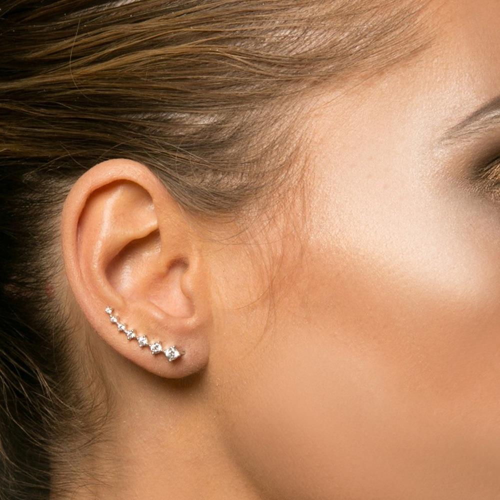 Boucles d'oreilles argent angels doré 4