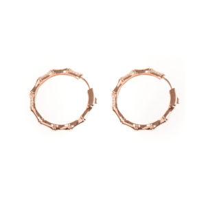 玫瑰金闪闪发光的竹银耳环6