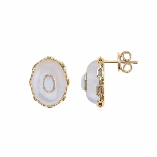 White mother-of-pearl clothilde silver earrings 4