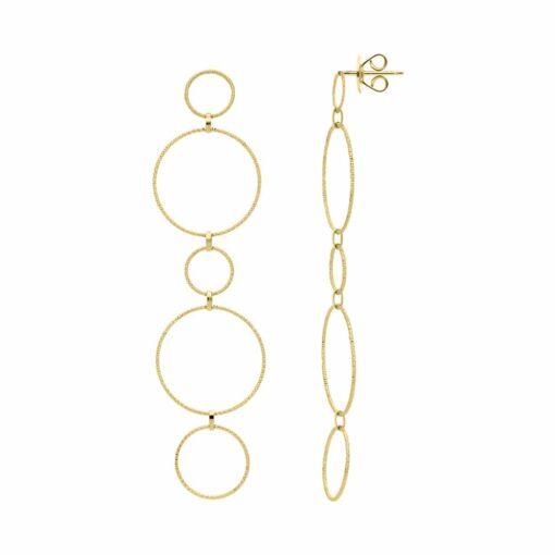 Boucles d oreilles argent doré diamanté Alessia 3