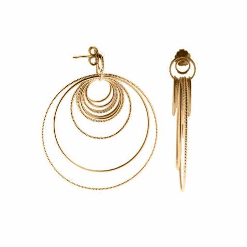 Boucles d oreilles argent doré diamanté Chiara 3