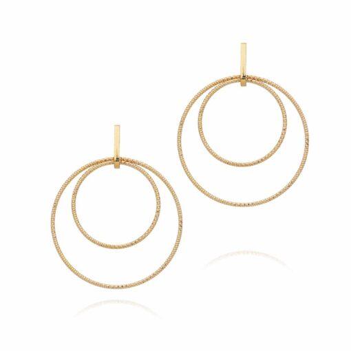 Boucles d oreilles argent doré diamanté Greta 3