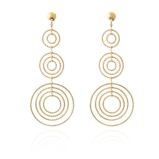 Boucles d oreilles argent doré diamanté Martina bis 3