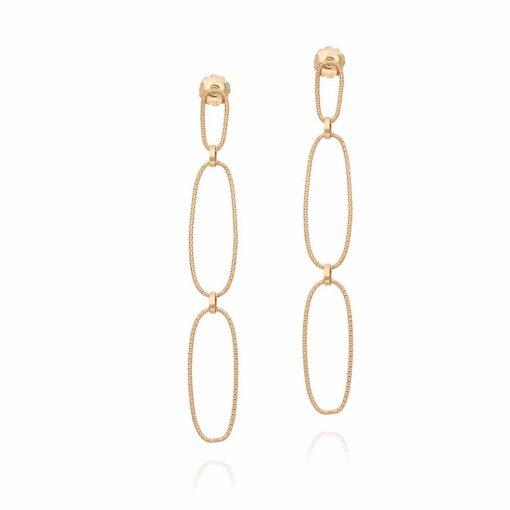 Boucles d oreilles argent doré diamanté Muriella 3