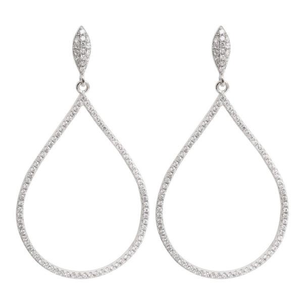 银色吊式耳环1
