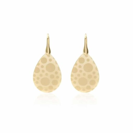 Silver drop earrings golden 3