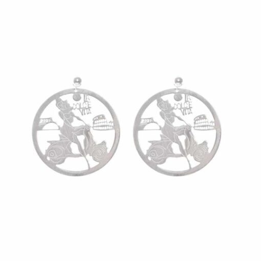La dolce vita rhodium silver earrings 3