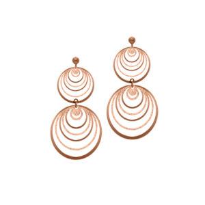 银耳环多粉红色闪闪发光的圆圈7