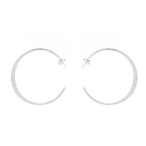 银色耳环小圈形耳环Rhodia Mat 5