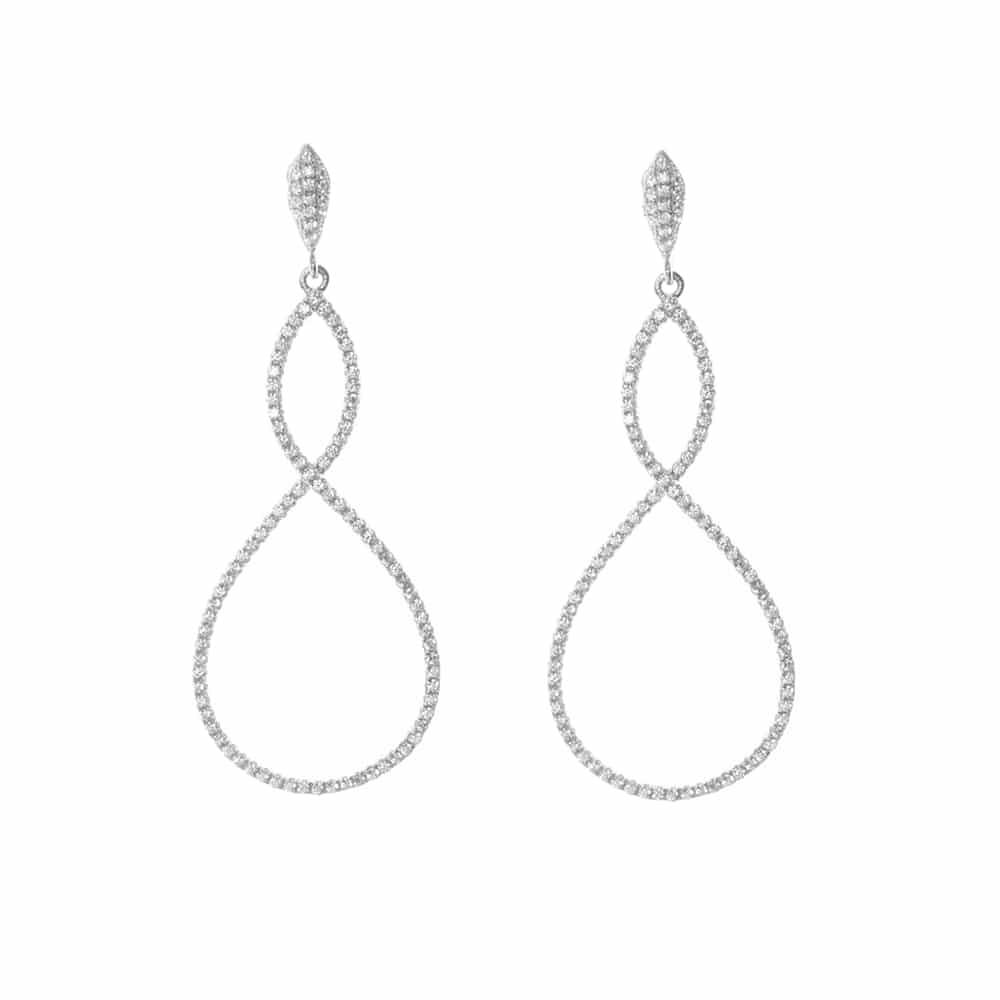 Boucles d'oreilles argent symbole infini argent 3