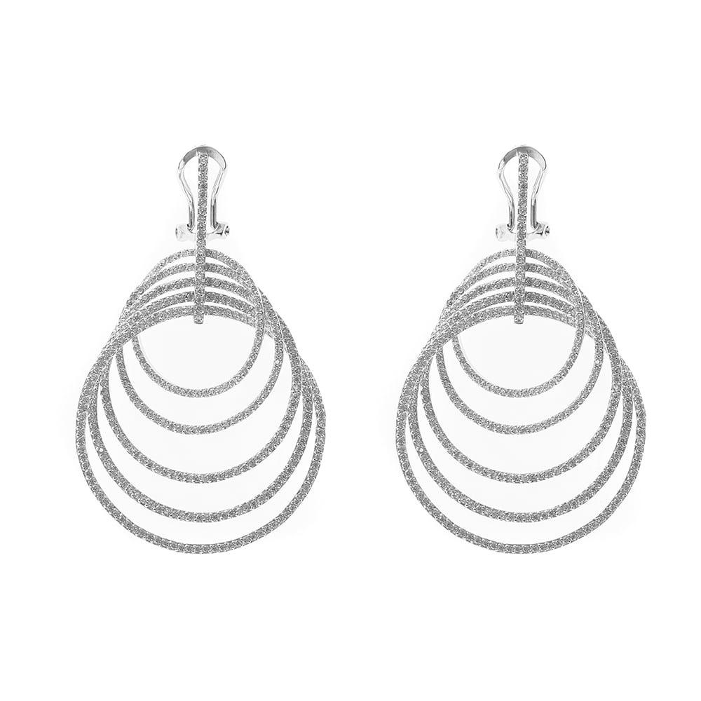 Boucles d'oreilles cercles liés rhodié 2