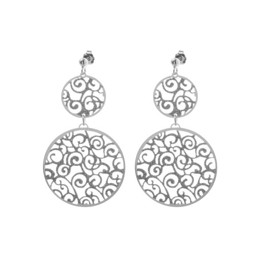 Rhodium-plated sparkling ethnic earrings 3