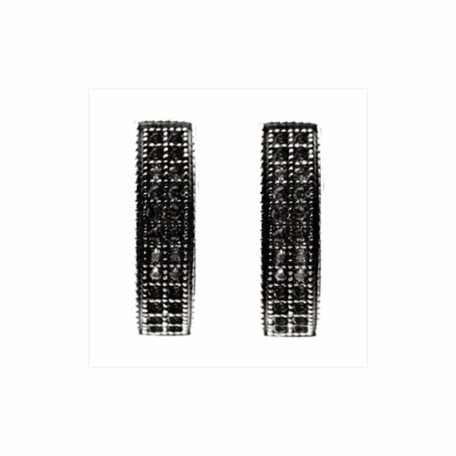 Sparkling earrings black 3