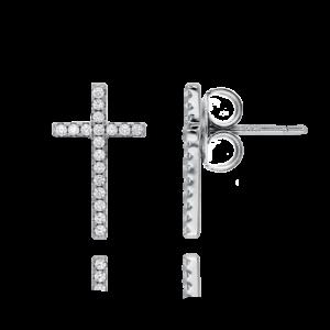 铑十字架耳环3