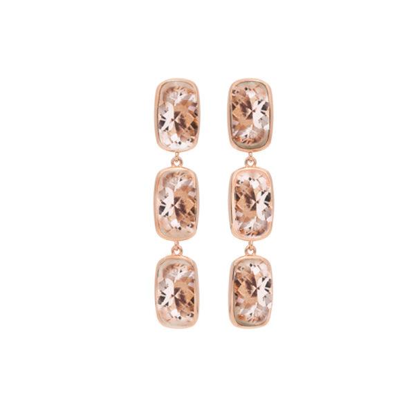 长银粉红西斯利粉粉红耳环1
