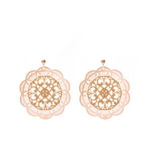 粉色和香槟色印加图案耳环6