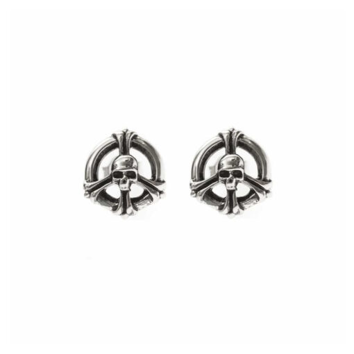 Peace and skull earrings 3