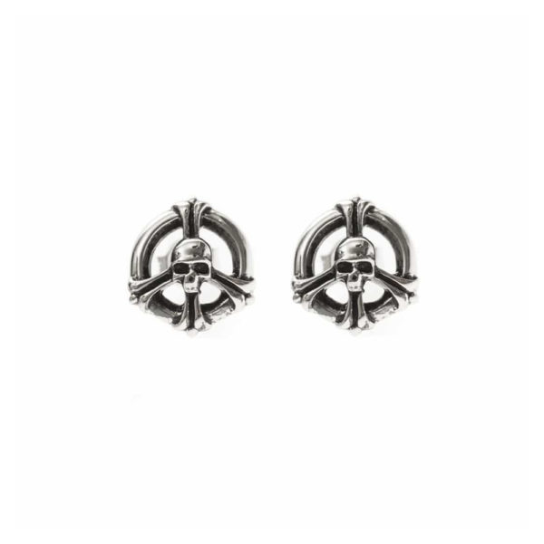 Boucles d'oreilles peace and skull 1