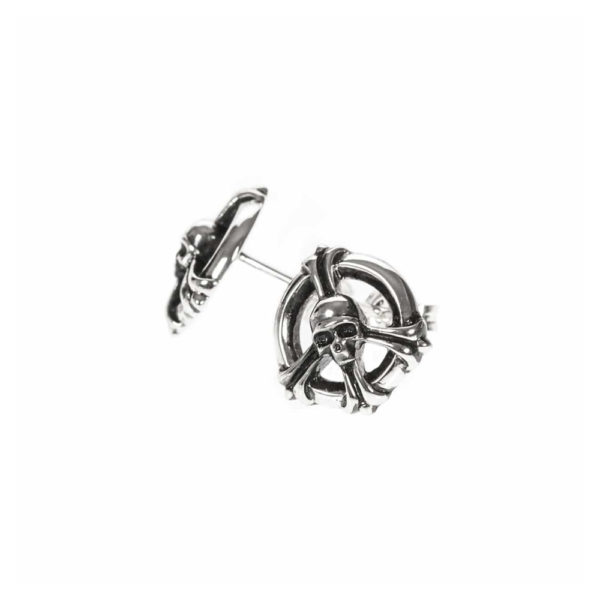 Boucles d'oreilles peace and skull 2