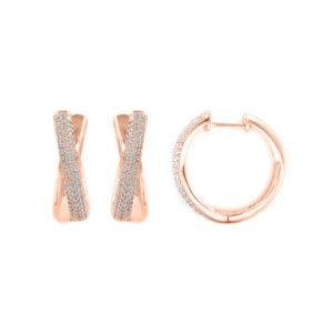 粉色闪闪发光小圈形耳环6