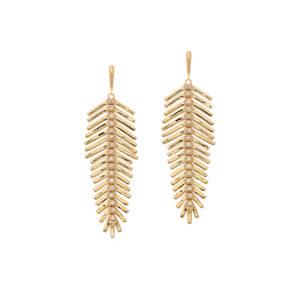 Boucles d'oreilles plume or 5