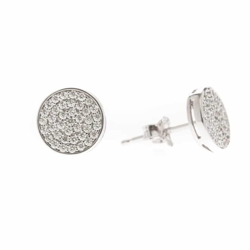Silver chip earrings with medallion 5