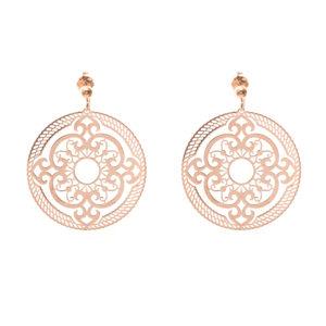 Boucles d'oreilles rosace rose 5