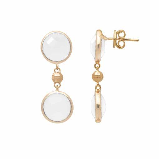 Zilveren oorbellen valentijn wit kristal 3