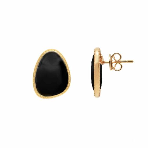 Silver earrings victoria black crystal 4