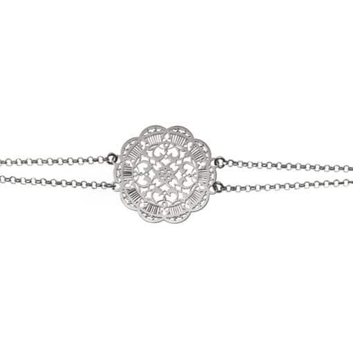 Bracelet acanthe argent 4