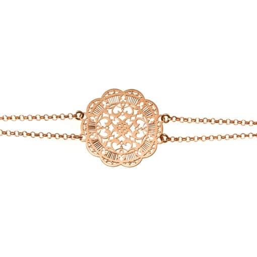 Silver acanthus bracelet gold 4