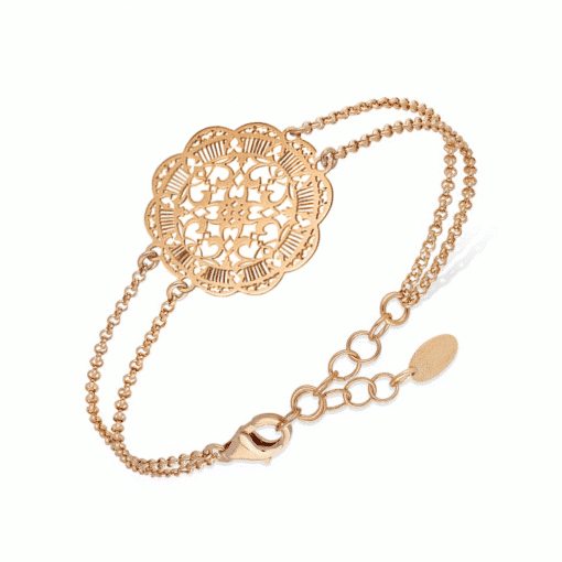 Silver acanthus bracelet gold 3