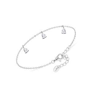 银色mirela魅力手链配白色锆石3