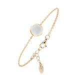Bracelet argent doré sarah nacre blanche 4