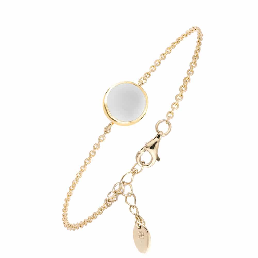 Bracelet argent doré sarah nacre blanche 3