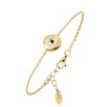 Bracelet argent doré sarah nacre blanche 5