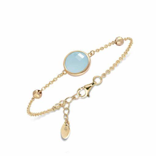 Bracelet silver gold valentine crystal green water 3