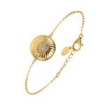 Bracelet argent doré elisabeth pierre nacre blanche 4