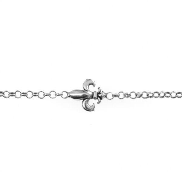 银色fleur-de-lis男子手链3