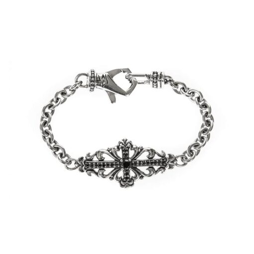 Silver bracelet royal flower 3