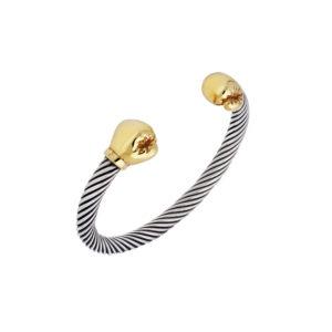 Bracelet argent gants de boxe doré 7