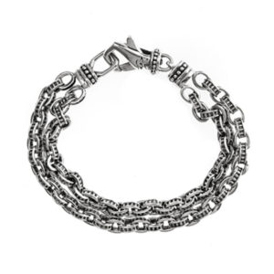 银色机械链接手链5