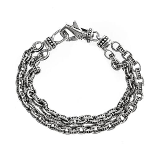 Silver mechanical link bracelet 3