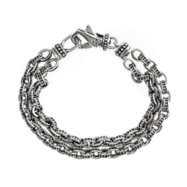 银色机械链接手链1